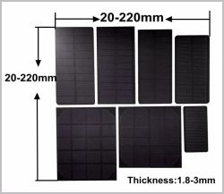 0,1 0,5W 1W 2W 3W 5W resina epóxi Pet Fosco pequeno painel solar para luz de LED do carregador da bateria