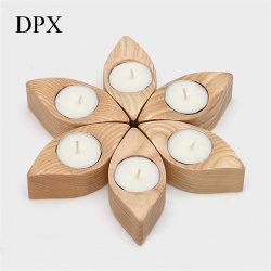 Contenitore di legno ornamentale di candeliere della candela del supporto di candela della decorazione della casa del supporto di candela per la base della candela della decorazione di natale della decorazione di cerimonia nuziale