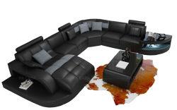 Fabricant de meubles salle de séjour un canapé-décors moderne de forme de L'un canapé-avec LED