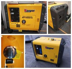 60Гц 230V 5 квт 5 КВА бесшумный портативный дизельный генератор с САР
