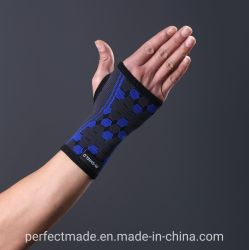 높 탄력 있는 열려있는 엄지 손목 지지대 손목 버팀대 손목 소매