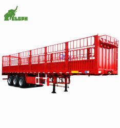 3 essieux piquet de clôture des cargaisons en vrac de l'élevage des animaux semi-remorque