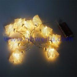 Indicatore luminoso all'ingrosso della stringa della ghirlanda dell'albero di Natale del metallo della fabbrica LED