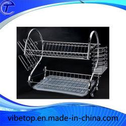 2 حامل مطبخ لتجفيف الأطباق من الدرجة مع صينية
