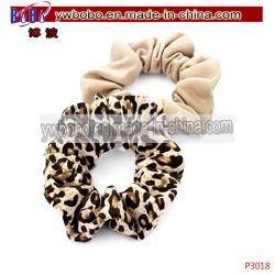 動物のヒョウプリントジャージーの毛のScrunchieのポニーテールの毛の装飾(P3018)