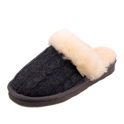 Cheap Wholesale personnaliser l'hiver chaud pantoufles en bonneterie pour femmes