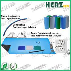Esd-leitendes grünes Gummiblatt-antistatische Werktisch-Matte für elektronische Werkstatt
