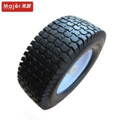 16 X 6.50-8 Mousse de PU les pneus à plat de roue libre avec des pneus increvables jante en acier pour tondeuse à gazon