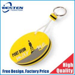 Anello portachiavi della gomma piuma/anello portachiavi di galleggiamento/EVA su ordinazione Keychain per la promozione
