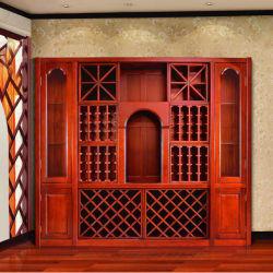 Meubles de maison Cabinet de vin en bois massif Porte-vin en bois (GSP9-042)