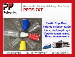 Высокая скорость автоматической пластмассовый кофе и воды или молока для приготовления чая и чашки горячее формование формовочная машина с автоматическим укладчика