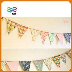 結婚披露宴のためのカスタム旗布のフラグを飾る長方形
