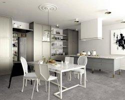 Modernes Esszimmer-graues Porzellan-keramische Bodenbelag-Wand-Fliese