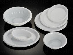 Form 1 Easylife verschiedene Wegwerf-PS runde Plastikplatte