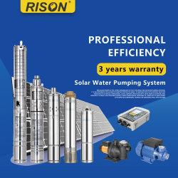 Высшее качество погружение солнечной водяного насоса с MPPT контроллер для постоянного тока AC совместимы, 3 года гарантии
