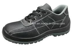 Niedriger Knöchel geprägtes aufgeteiltes Leder mit PU oder alleinigen Sicherheits-Gummischuhen