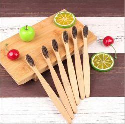 Toothbrush di bambù ambientale della maniglia con il pacchetto della casella