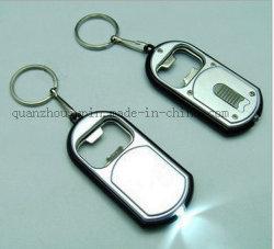Portachiavi portachiavi portachiavi con apertura bottiglia LED in metallo OEM