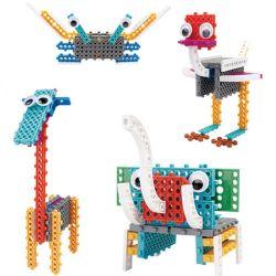 В 14885502-4 1 животных комплект измененных блоков образовательных DIY творческих игрушка блоки, 47ПК (Elephant- Краб- Жираф- страусов)