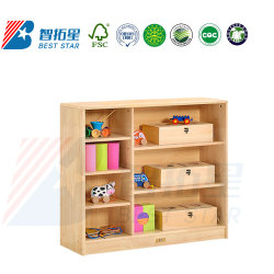 Les enfants Meubles de salle de classe de l'école, prématernelle et maternelle jour armoire en bois de soins de livre, les enfants Nursery Toy Armoire de stockage, armoire de stockage de bébé