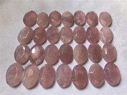 Cuarzo Rosa Cabochons Natural Oval 26x17x6mm para la Joyería de piedras preciosas sueltas