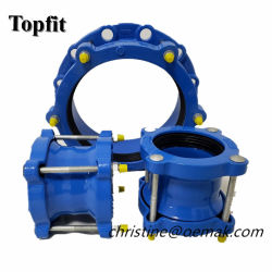 Universal large gamme flexible de raccord de tuyauterie en fonte ductile rapide