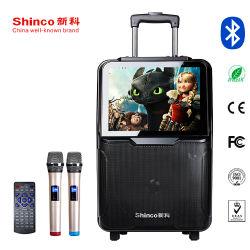 15-дюймовый экран Full HD видео динамиков громкоговорителя тележка АС с Bluetooth