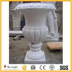 Adaptado de mármol o granito natural Maceta tallar para jardín o la decoración del hogar
