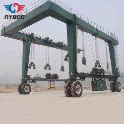 grue à portique de levage de bateau Rubber-Tired 150 la tonne pour le chantier naval