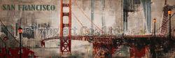 Base de alumínio emoldurado pintura a óleo para Bridge