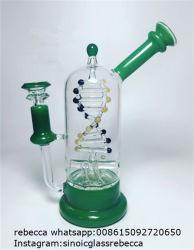 Novo design da base redonda de 8 polegadas de DNA rotativas água tabagismo Vidro Perc
