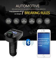 Автомобильный комплект Bluetooth FM-передатчик MP3-плеер со светодиодной подсветкой и два порта USB 4.1A быстрое зарядное устройство напряжение на дисплее карты памяти Micro SD TF воспроизведение музыки