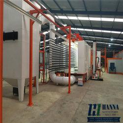 Perfil de aluminio automática completa línea de producción de recubrimiento de spray de polvo/Planta
