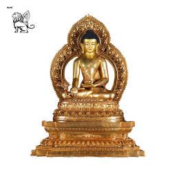 Fabbricazione religioso Ottone Buddismo Tibetano Statua seduta Buddha bsg-94