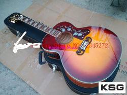 버찌 빨강 파열 J200 음향 기타 프레임 단풍나무 Sj200 전기 음향 기타