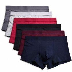 O logotipo personalizado de roupa interior masculina barata pugilistas de algodão puro resumos dos homens