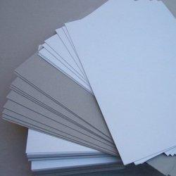 Mill côté unique de papier couché Stocklot carte Duplex dos gris