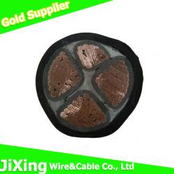 4 núcleos Yjv aislamiento XLPE recubierto de PVC El Cable de alimentación