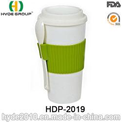 Prácticas aisladas de taza de café de plástico con una cuchara (HDP-2019)