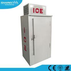 Aufrechtes eingesacktes Eisspeicher-Sortierfach mit einzelner fester Tür