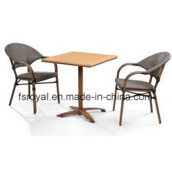 Moderno Jardín Textilene Rattan muebles de mimbre de resina juego de comedor