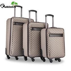 Precio barato Material de cuero bolsa de equipaje Equipaje de viaje Set