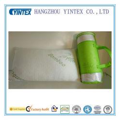 Mousse à mémoire de déchiqueté avec couvercle amovible de fibre de bambou oreiller