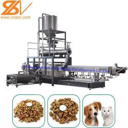 2019마리의 최신 판매 100kg-6t/H 자동적인 개 고양이 물고기 새우 새 애완 동물 간식 압출기 생산 공장 선 장비 기계 물고기 공급 기계