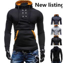 2016의 최신 남자의 고품질 더블 두건이 있는 스웨터