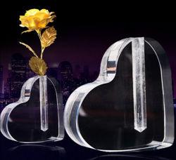 Base en forme de coeur en acrylique en fleur acrylique