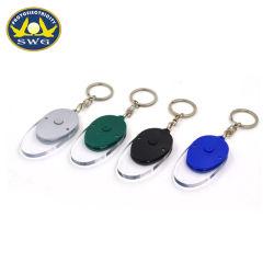 Пластиковый овальной формы LED цепочки ключей, мини-поощрения Keyring лампа АБС