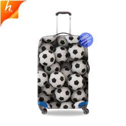 Nom de marque de gros valise couvrir pour les voyages les boules d'impression de motifs sur couvre les cas