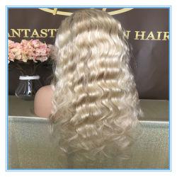 As vendas a quente de qualidade superior #613 loira cor de cabelo humano Rendas Perucas com preço de fábrica Peruca-038