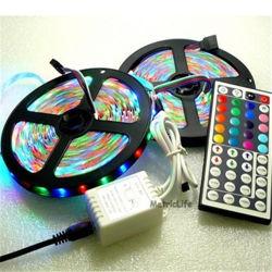 44のキーRemote Controller、2A Adaptor、3528 RGB Flexible Strip